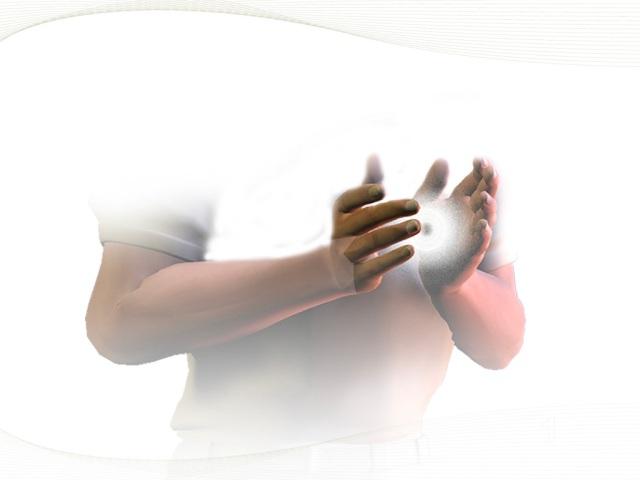 Ressentir l'énergie dans les mains, quantifier, qualifier l'énergie avec les mains.